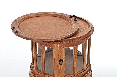 Credenza Con Vetrina In Stile : Clp tavolino tondo da salotto in legno di mogano vetrinetta
