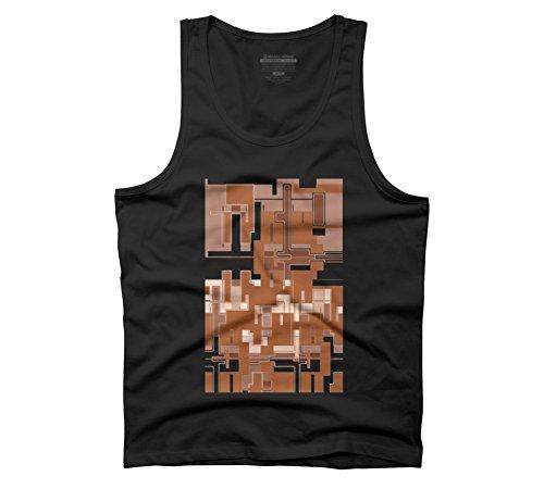 Herren-quadrat-tank-tops (Ein Fractal Muster Herren Graphic Tank Top–Design von Menschen, Schwarz, 23555-21-5-10-DBH.AMEU)