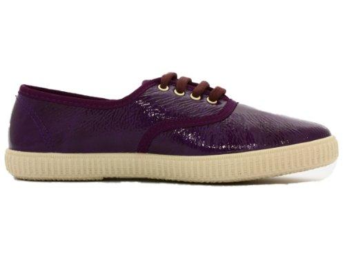 - Baskets violette en toile effet vernis Violet