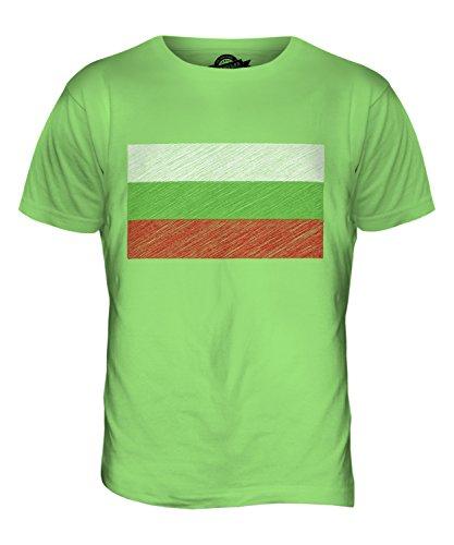CandyMix Bulgarien Kritzelte Flagge Herren T Shirt Limettengrün