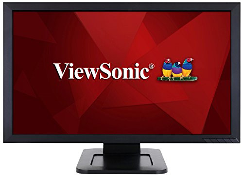 Viewsonic TD2421 59,9 cm (24 Zoll) Touch Monitor (Full-HD, VA-Panel, HDMI, Lautsprecher, USB Hub) Schwarz - Hd-monitor Viewsonic