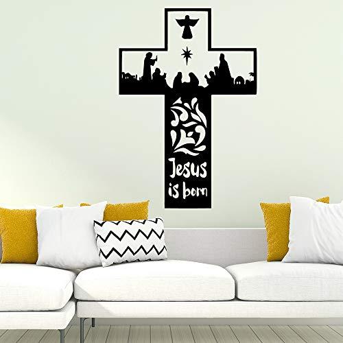 ljradj Kreativer Segen Islamic Eid Mubarak Muslim Wandaufkleber Wohnzimmer Schlafzimmer Dekoration Abziehbilder Aufkleber Tapete Tapete gelb XL 57cm X 82cm