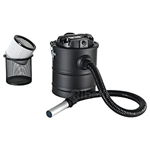 Ash Vacuum/Fire Place Vacuum 20 litres with a 1200 W Motor and Filter for Grill Pit Cleaning - a Dry Cleaner for ash - GS Tested