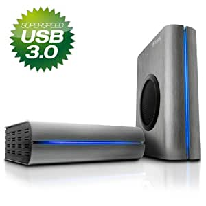 FANTEC DB-F8U3 titan silber USB 3.0 Externes Gehaeuse fuer 8,89cm 3,5Zoll SATA HDD abschaltbarer 80mm Luefter Aluminium