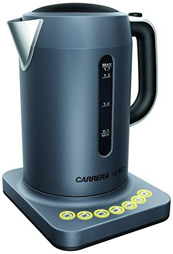 CARRERA Wasserkocher No 551, Edelstahl, Temperatureinstellung, Warmhaltefunktion, 1,7 l