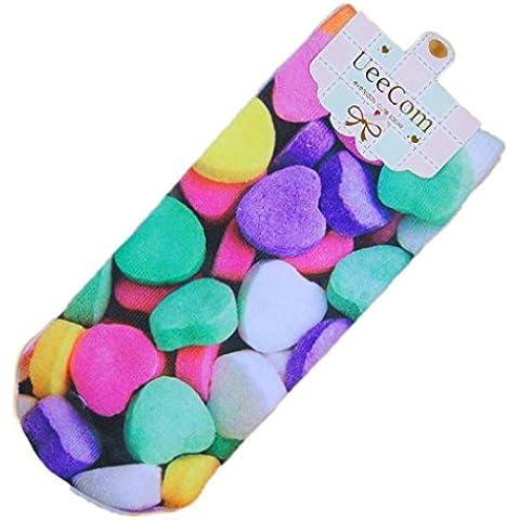 Vollter Mujeres Chicas 3D Harajuku Calcetines de algodón Candy Frutas Imprimir Calcetines de tobillo Chicas calcetines