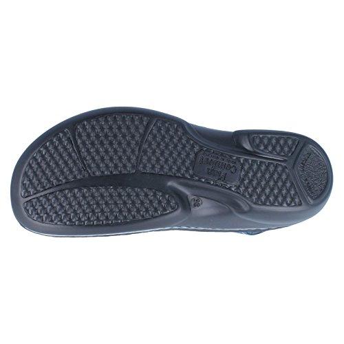 Finn Comfort Womens Saloniki 2557 Leather Sandals Bleu