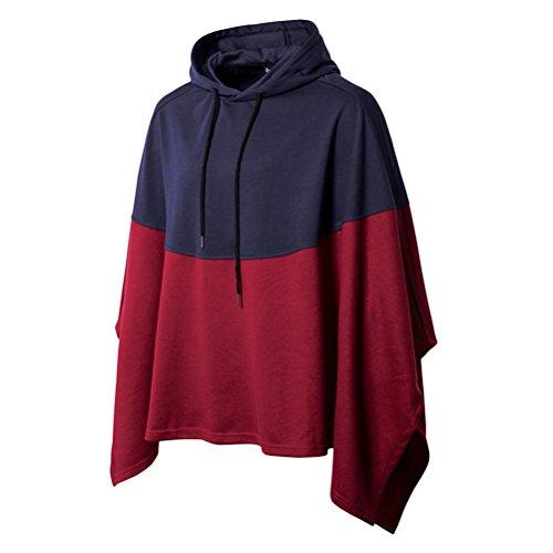weatshirt Poncho Cape Mantel - Poncho mit Kapuze Herren Damen Baumwolle Jacken für Männer ()