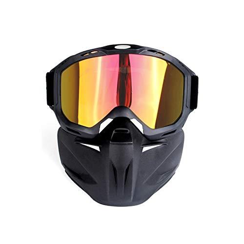 Amody Schutzbrillen Draussen-Schutzbrillen Motorradhelm Reiten Off-Road-Schutzbrillen Rote Linsen
