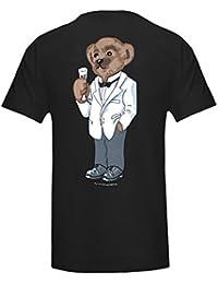 BRUBAKER Unisex Bärchen Schlaf T-Shirt Big Shirt mit Knopfleiste verschiedene Motive