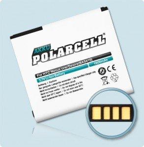 PolarCell Akku für HTC Desire (BA S410) 1600mAh / T-Mobile, Vodafone