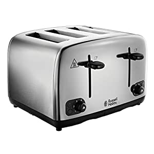 Russell Hobbs 24090 Adventure Brushed and Polished Stainless Steel Four Slice Toaster