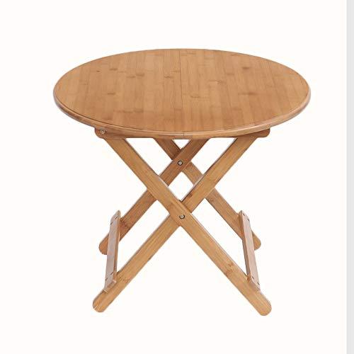 Qing MEI Klapptisch Einfacher Kleiner Runder Esstisch Verstellbarer Schreibtisch Zum Lernen Von Schülern Tragbarer Kleiner Tisch (Size : 90x90x75cm) - Kleiner Verstellbar Klapptisch