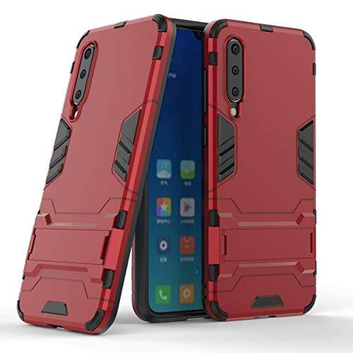 """Max Power Digital Funda para Xiaomi Mi 9 SE (5.97"""") con Soporte - Carcasa híbrida antigolpes Resistente (Mi 9 SE, Rojo)"""