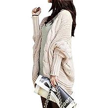 6c927742256b Veste en Tricot Femme Manches Longues Manteau Chandail Chaud Cardigan Hiver  Lache Gilet Pull Jumper Sweats