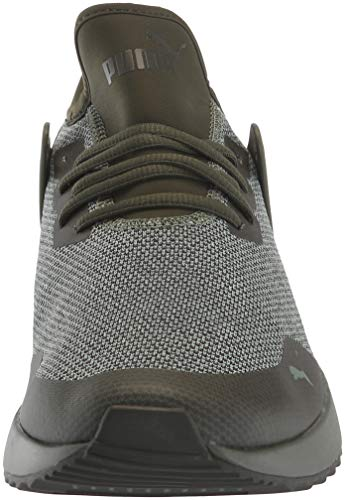 PUMA Men s Pacer Next Cage Knit Sneaker  Forest Night-Forest Night-Laurel Wreath  9 5 M US