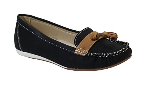 By Shoes Mocassin Plate Style Cuir - Femme