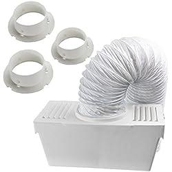 SPARES2GO Kit de condenseur à tuyau d'évacuation universel avec 3 x adaptateurs pour sèche-linge (1,2 m)