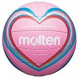 Freizeitball, weiches Synthetik-Leder, maschinengenäht - Farbe: Pink/Blau/Rot, Größe: 5