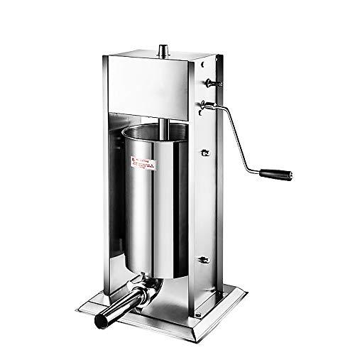 GDCB 3L / 5L / 7L Máquina embutidora de salchicha de acero inoxidable de doble velocidad Carne de cerdo, relleno de salchichas con 4 tubos de salchicha de grado alimenticio para uso comercial