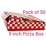 Shri Ram Packaging 3 Ply Printed Pizza Box 9 inch Pack of 50 Box