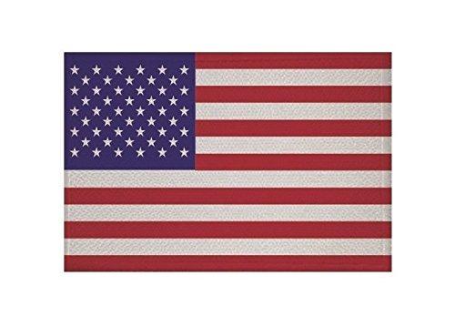 U24 Aufnäher USA Fahne Flagge Aufbügler Patch 9 x 6 cm -