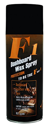 f1 dashboard wax polish spray & shiner for leather/ dashboard / tyres 450ml F1 Dashboard Wax Polish Spray & Shiner for Leather/ Dashboard / Tyres 450ml 41dEAGev9PL
