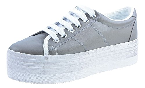 JC Play by Jeffrey Campbell Zomg Grey Leather - - Gris, 40 EU