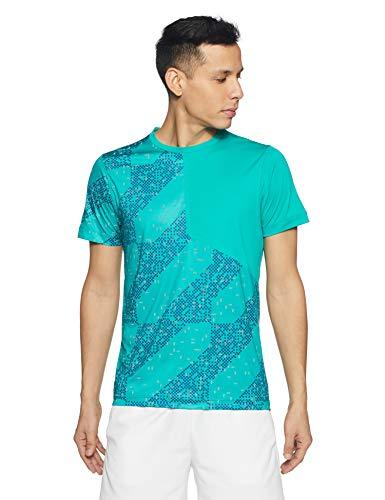 Herr Show Shirt (ASICS Lite-Show Laufshirt Herren Shirt, grün/blau, L-52)