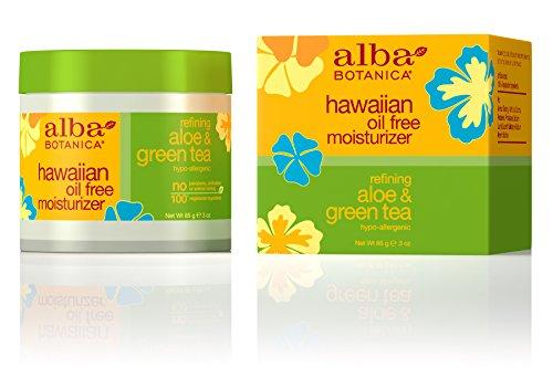 Tea Oil Free Moisturizer (Alba Botanica Hawaiian, Aloe & Green Tea Oil-Free Moisturizer, 3 Ounce by Alba Botanica)