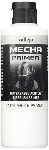 Vallejo AV Mecha Acryl-Farbe für Airbrush, White Primer, 200 ml