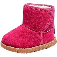 Niños Invierno Botas de Nieve Impermeable Espesar Además de Terciopelo Zapatos de Cuero Antideslizante Fondo Suave algodón Botas