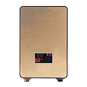 Lecxin Calentador de Agua Caliente instantáneo, 220V 6500W Calentador de Agua Caliente eléctrico sin Tanque Calentador de Agua Caliente instantáneo Calentador de Agua de Ducha para baño en casa