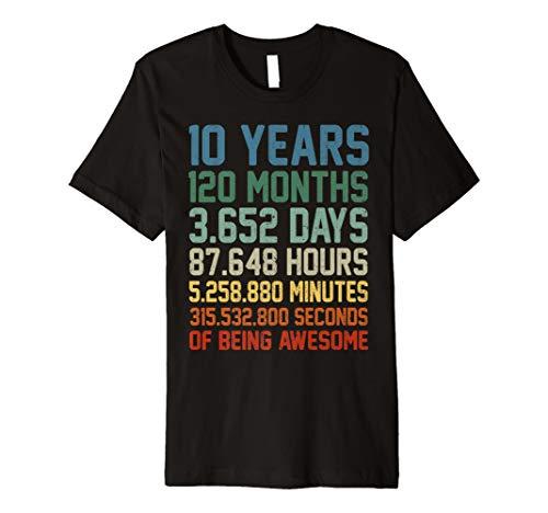 Resultados De La Busqueda 10th Birthday T Shirt 10 Years Old Tee Bday Gift