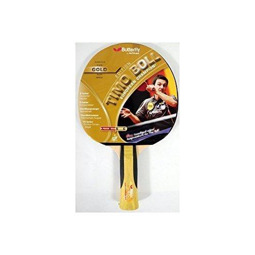 Preisvergleich Produktbild Marke New Butterfly Timo Boll Gold Tischtennisschläger,  addoy 3Star 1, 5mm