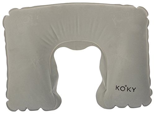 Kooky Grey Travel Neck Pillow and Black Sleep Mask Set  available at amazon for Rs.300