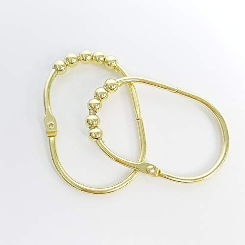 Ocamo 12 Teile/Satz 5 Perlen Oval Form Vorhang Hängen Haken Nachahmung Gold -