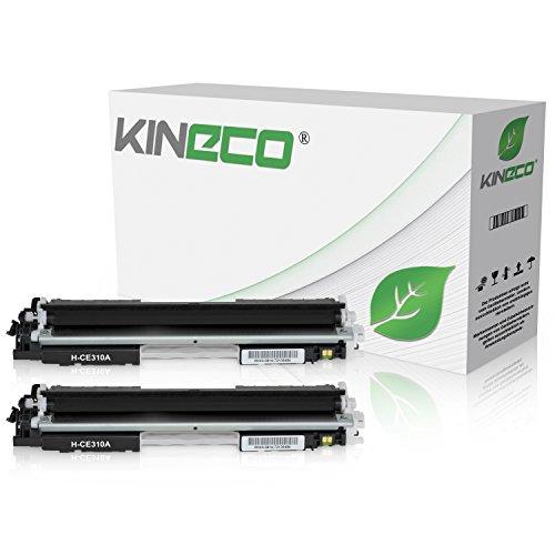 tibel zu HP CE310 Laserjet Pto 100 Color MFP M175, Pro M275, Color Laserjet Pro CP1021, CP1025, CP1028 - CE310A - Schwarz je 1.200 Seiten ()