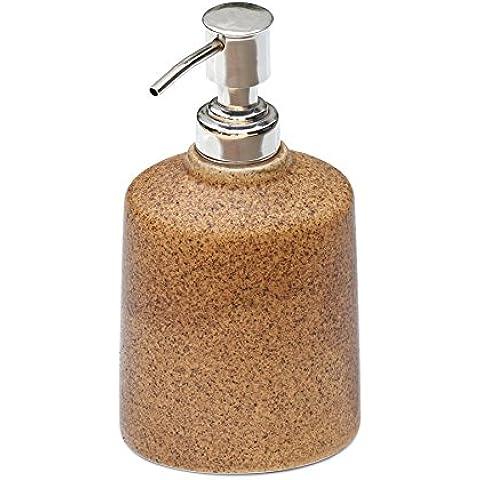 SouvNear dispensador de jabón natural de Brown bomba 16,2 cm loción o sostenedor del jabón líquido con bomba de la manija de aluminio con
