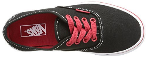 Vans K Authentic Sneakers, Infantile Nero (Pop/Black/White/Red)