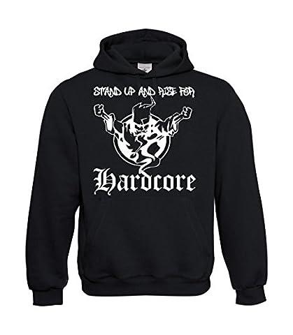 Textilmonster - Sweat-shirt à capuche - Homme Noir Noir