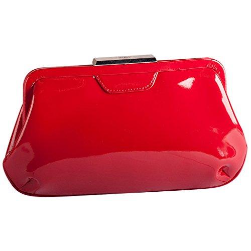 Picard Damen Auguri Umhängetasche, 4x15x26 cm Rot (Rot-Lack)