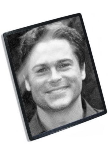 rob-lowe-original-art-mouse-mat-signed-by-the-artist-js001