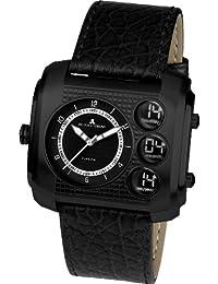 Jacques Lemans Herren-Armbanduhr XL Madrid Analog - Digital Quarz Leder 1-1780D
