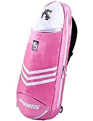 Étanche pour raquette de badminton raquette de sac sac à bandoulière sac à dos sport–rose