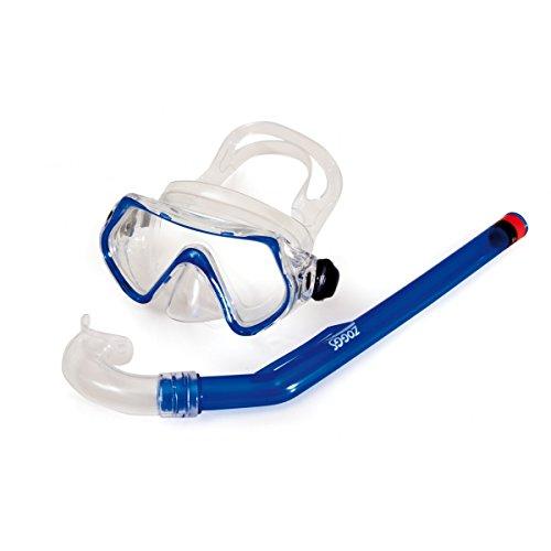 Zoggs Reef Explorer Junior Rentner Schnorchel und Mask, Badehose Schwimmbad Tauchen - 6-14 Jahre, blue (Junior Tauchen Maske)