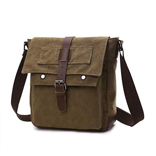 Wind Took Leinwand Messenger Bag Arbeit Umhängetasche Segeltuch Tasche Kuriertasche Herrentasche Schultertasche Collegetasche Arbeitstasche Aktentasche Laptoptasche Studententasche, Coffee -