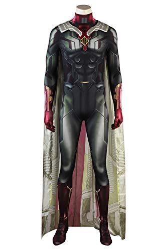 Karnestore Infinity War Vision Superhero Halloween Cosplay Kostüm Herren XL (Vision Kostüm)