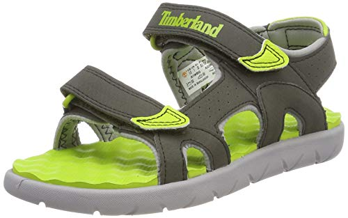 Timberland Perkins Row 2-Strap, Sandali a Punta Aperta Unisex-Bambini, Verde (Forest Night...