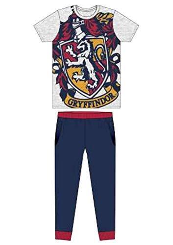 (Herren Erwachsene Neuheit Batman Spiderman Superman Avengers Jurassic Park Harry Potter Schlafanzüge Pyjama Pj-Satz Kostüm - GR. S-XL - Harry Potter - Gryffindor Logo, M)